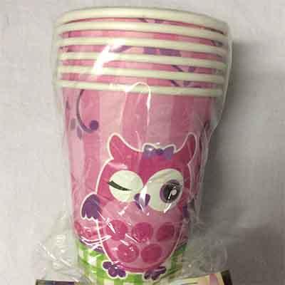 TheVarietyShop_BabyShower_Owl_Cups_6pc
