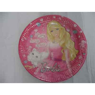 TheVarietyShop_Barbie_Plates_8pc