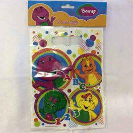 8pc Barney Loot Bags