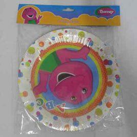 8pc Barney Plates