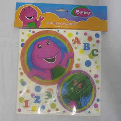 TheVarietyShop_Barney_Serviettes_16pc