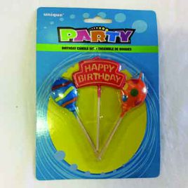 3pc Birthday Candles