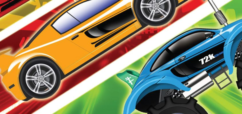 Boys and Racing Cars