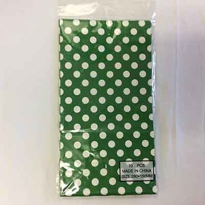 TheVarietyShop_CandyBag_10pc_280x150mm_GreenPolkaDot
