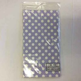 10pc Candy Bag Lilac Polka Dot