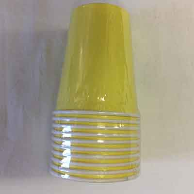 TheVarietyShop_CupsColours_10pc_Yellow
