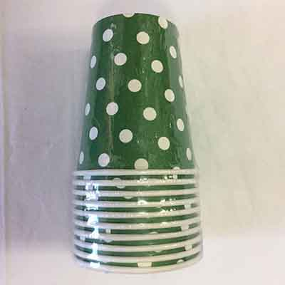 TheVarietyShop_CupsPolkaDot_10pc_Green