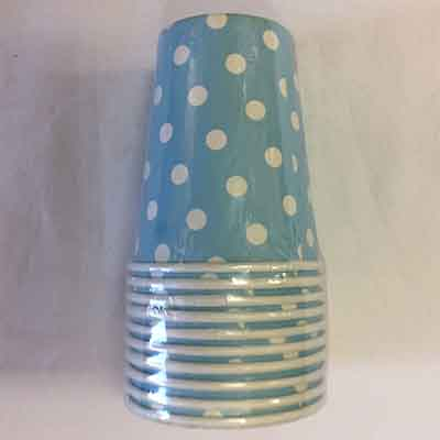 TheVarietyShop_CupsPolkaDot_10pc_LightBlue