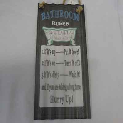 TheVarietyShop_Metal_Plaque_BathroomRules