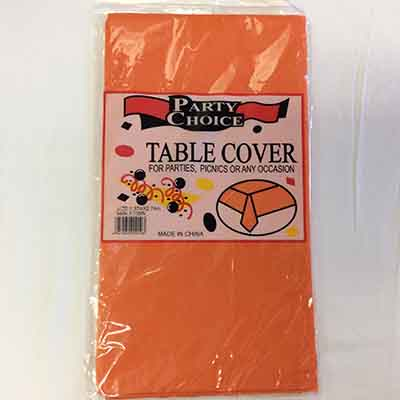 TheVarietyShop_TableCloth_Orange_1.37mX2.74m_1pc