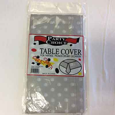 TheVarietyShop_TableCloth_PolkaDot_Silver_1.37mX2.74m_1pc